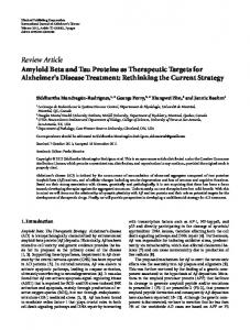Review Article Amyloid Beta and Tau Proteins as ... - Semantic Scholar
