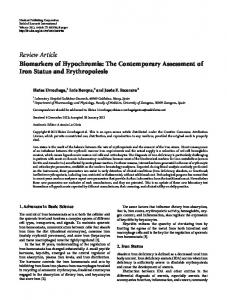 Review Article Biomarkers of Hypochromia: The ... - BioMedSearch