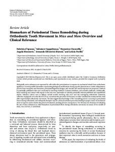 Review Article Biomarkers of Periodontal Tissue ...