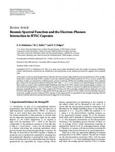 Review Article Bosonic Spectral Function and the Electron ... - CORE