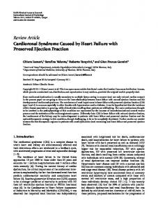 Review Article Cardiorenal Syndrome Caused by ... - ScienceOpen