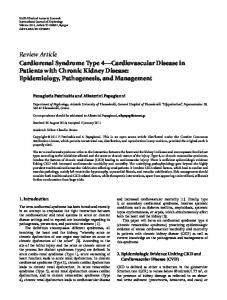 Review Article Cardiorenal Syndrome Type 4 ...