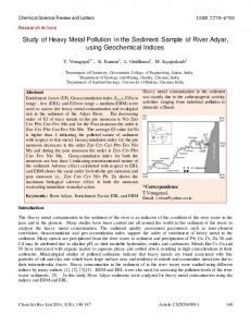 Review Article - Chemical Science Review and Letters