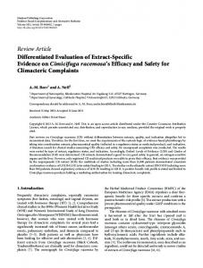 Review Article Differentiated Evaluation of Extract ... - ScienceOpen
