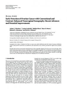 Review Article Early Detection of Ovarian Cancer with ... - BioMedSearch