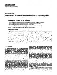 Review Article Endoplasmic Reticulum Stress and ... - ScienceOpen