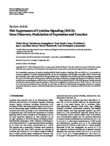 Review Article Fish Suppressors of Cytokine ... - BioMedSearch