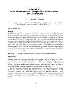 REVIEW ARTICLE Health and Environmental ...