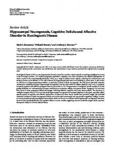 Review Article Hippocampal Neurogenesis ... - BioMedSearch