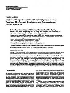 Review Article Historical Perspective of Traditional ... - BioMedSearch