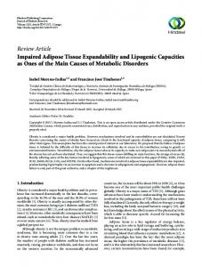 Review Article Impaired Adipose Tissue Expandability ...