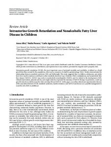 Review Article Intrauterine Growth Retardation and