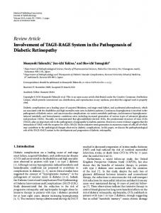 Review Article Involvement of TAGE-RAGE System in ... - ScienceOpen