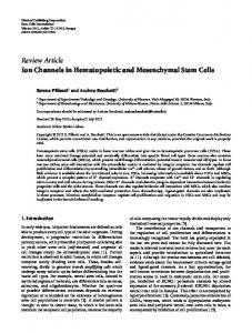 Review Article Ion Channels in Hematopoietic and