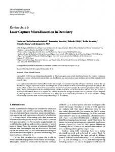 Review Article Laser Capture Microdissection in