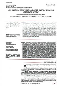 Review Article LATE SURGICAL COMPLICATIONS AFTER GASTRIC ...