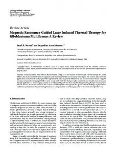 Review Article Magnetic Resonance-Guided Laser ... - BioMedSearch