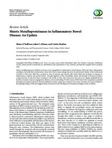 Review Article Matrix Metalloproteinases in