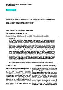 Review article MEDICAL ISSUES ASSOCIATED WITH ANABOLIC ...