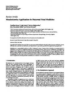 Review Article Metabolomics Application in Maternal ... - BioMedSearch