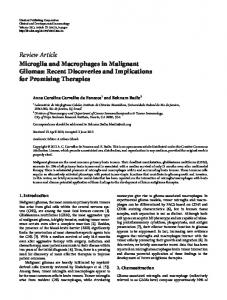 Review Article Microglia and Macrophages in ... - ScienceOpen