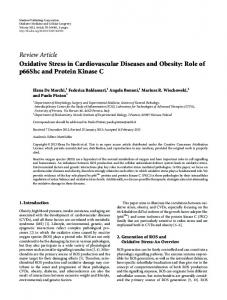 Review Article Oxidative Stress in Cardiovascular ... - ScienceOpen