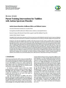 Review Article Parent Training Interventions for ...