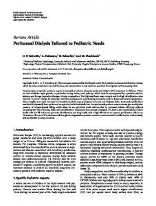 Review Article Peritoneal Dialysis Tailored to ... - BioMedSearch