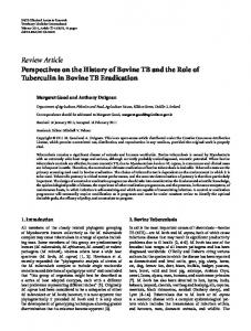 Review Article Perspectives on the History of Bovine ... - ScienceOpen