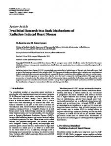Review Article Preclinical Research into Basic ... - ScienceOpen