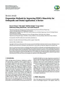 Review Article Preparation Methods for Improving PEEK's ... - Core
