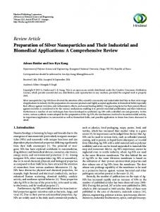 Review Article Preparation of Silver Nanoparticles ...