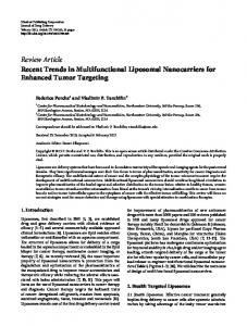 Review Article Recent Trends in Multifunctional ... - BioMedSearch