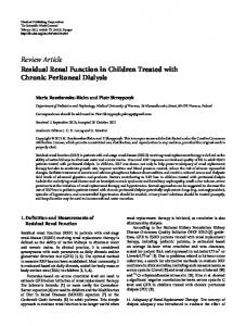 Review Article Residual Renal Function in Children ... - BioMedSearch