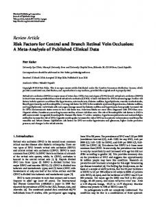 Review Article Risk Factors for Central and Branch ... - BioMedSearch