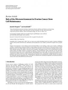 Review Article Role of the Microenvironment in ... - BioMedSearch