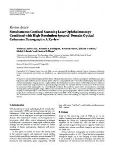 Review Article Simultaneous Confocal Scanning Laser ... - ScienceOpen