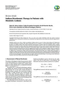 Review Article Sodium Bicarbonate Therapy in