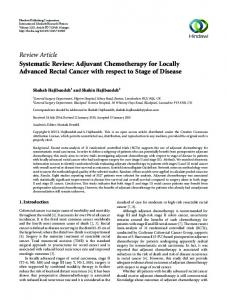 Review Article Systematic Review: Adjuvant ...