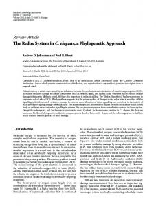 Review Article The Redox System in C. elegans, a ... - ScienceOpen