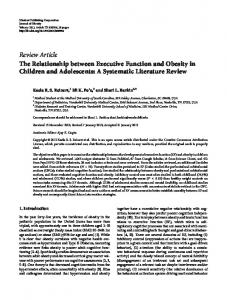 Review Article The Relationship between Executive ... - ScienceOpen
