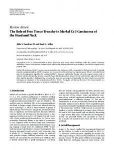 Review Article The Role of Free Tissue Transfer in ... - BioMedSearch