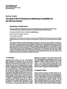 Review Article The Role of HCN Channels on ... - BioMedSearch
