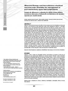 REVIEW ARTICLE Ultrasound therapy and ... - Revistas USP