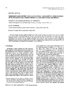 REVIEW ARTICLE WITH NUCLEAR FUELS, FISSION PRODUCTS ...