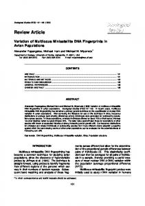Review Article - Zoological Studies