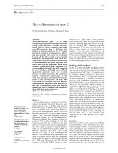 Review articles Neurofibromatosis type 2 - NCBI - NIH