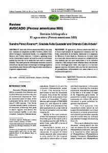 Review AVOCADO (Persea americana Mill) - SciELO Cuba