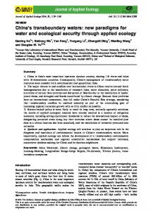 REVIEW: Chinas transboundary waters: new paradigms for water and ...