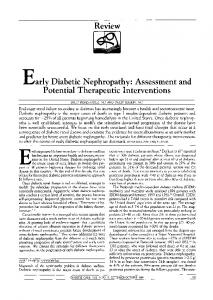 Review Early Diabetic Nephropathy: Assessment and ... - Diabetes Care